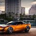 Atomic Orange Corvette - Outside 1 by CamerePhotography.com