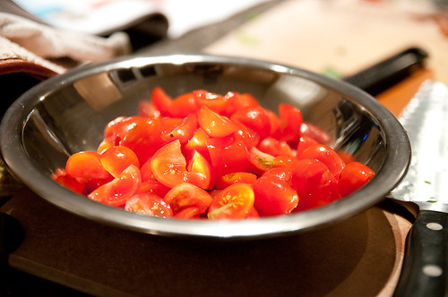 chopped grape tomatoes
