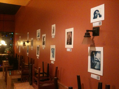 Pictures on DIsplay at Wild Oat Cafe, Ottawa