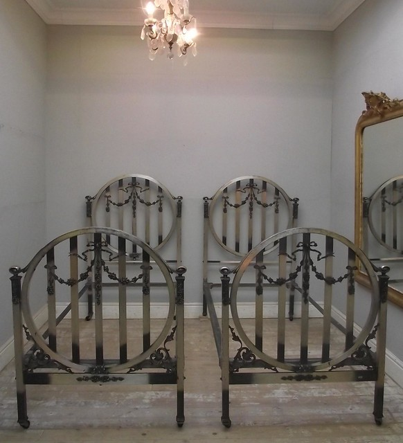 Antique Twin Beds Pair