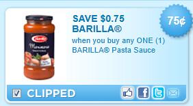 Barilla Pasta Sauce Coupon