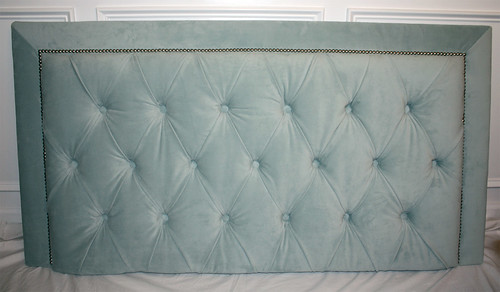orange sugar: DIY Diamond Tufted Headboard with Nailhead Trim