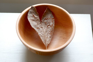 January 3 - Heart leaf in a wooden bowl