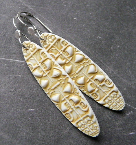 Cathedral Windows - Porcelain Earrings
