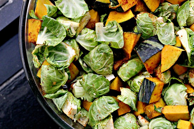 Spicy Squash Salad with Lentils, Brussels Sprouts and Goat ...