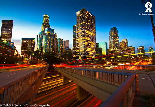 Los Angeles, war of traffic light trails! [Explored FP 1.06.12]