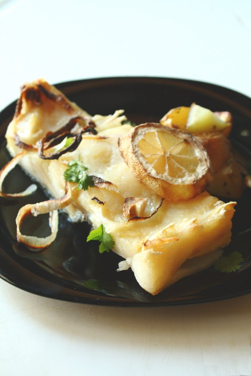 Oven Roasted Bacalhau with Lemon