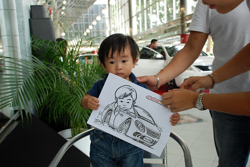 Caricature live sketching for Tan Chong Nissan Almera Soft Launch - Day 2 - 27