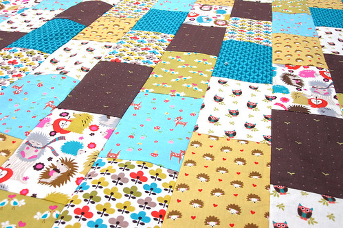 hedgehog quilt top