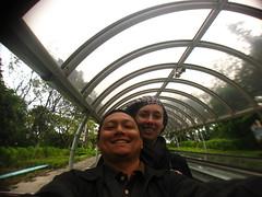 On the Ocean Park Escalator