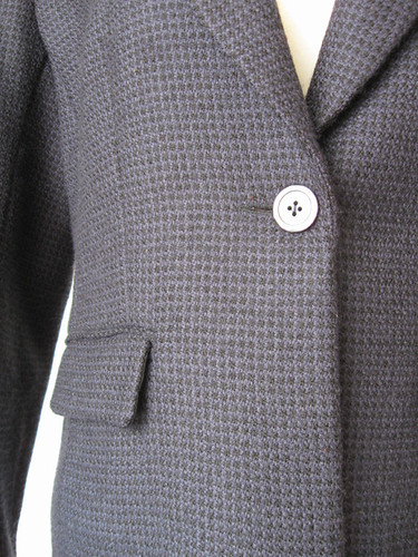 Blueblack wool jacket closeup