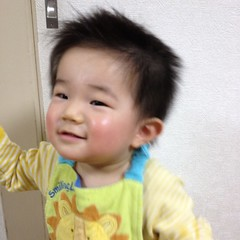 お風呂でとらちゃんの髪を切りましたよ(2012/1/7)