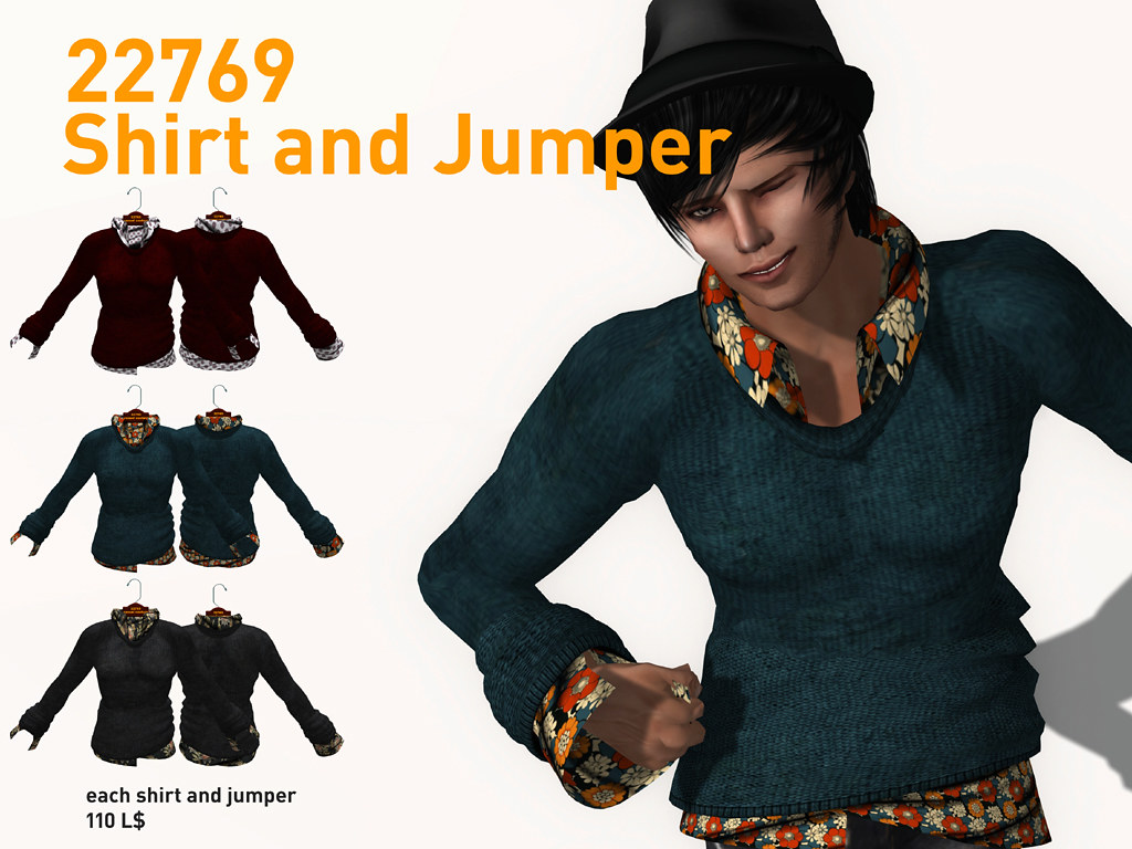 22769 Homme Shirt And Jumper Combo New Release In Stor Flickr