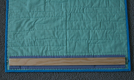 How to Hang a Quilt Tutorial, step 6