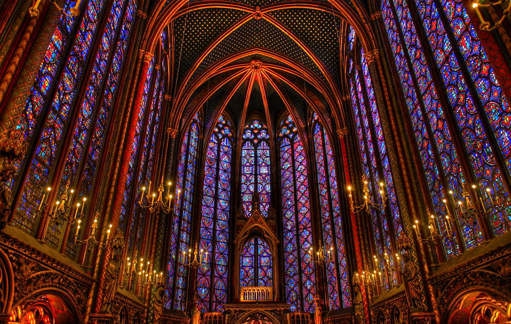 Inside Sainte-Chapelle Looking Towards Front