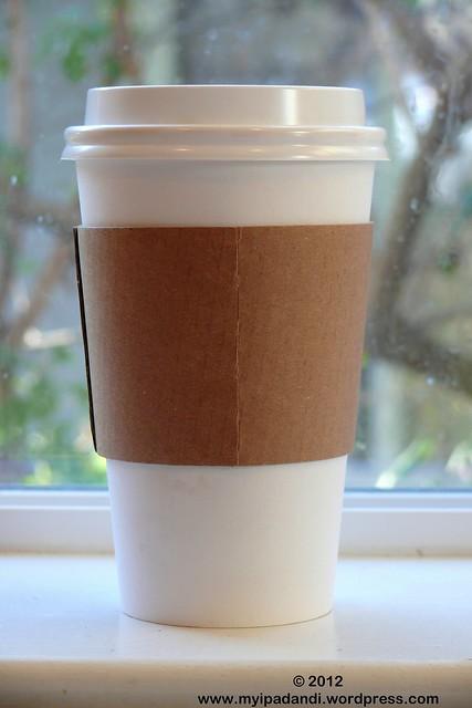 Plain white cup