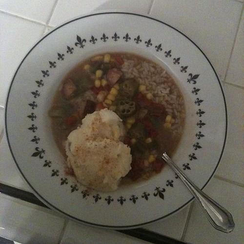 Gumbo and potato salad