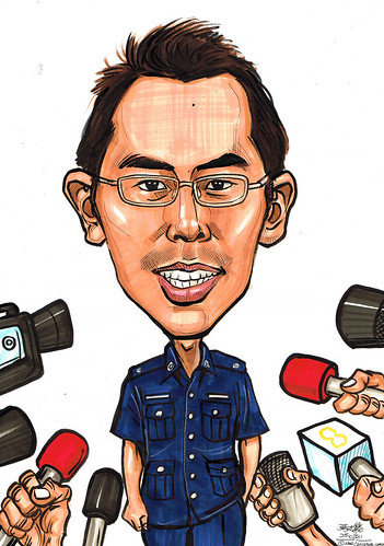 Caricature for Singapore Police Force
