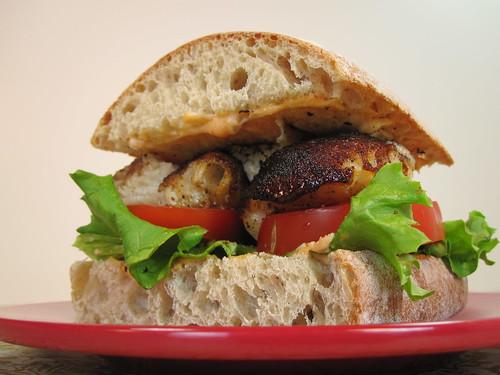Grilled Seabass Sandwich