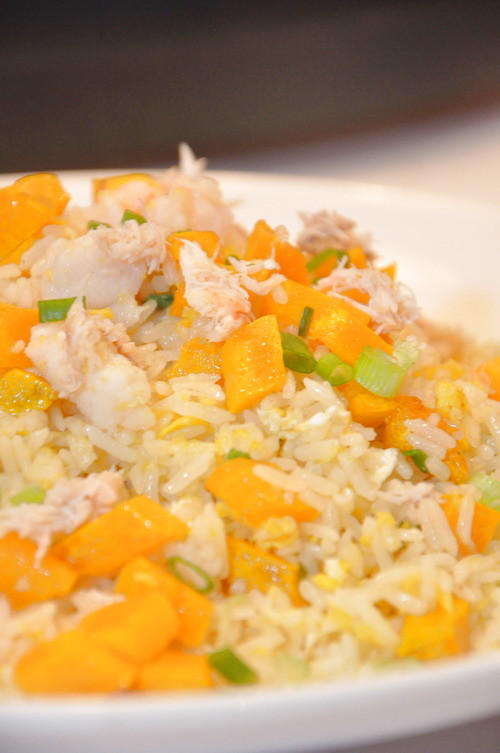 Fried Rice with Seafood and Pumpkin