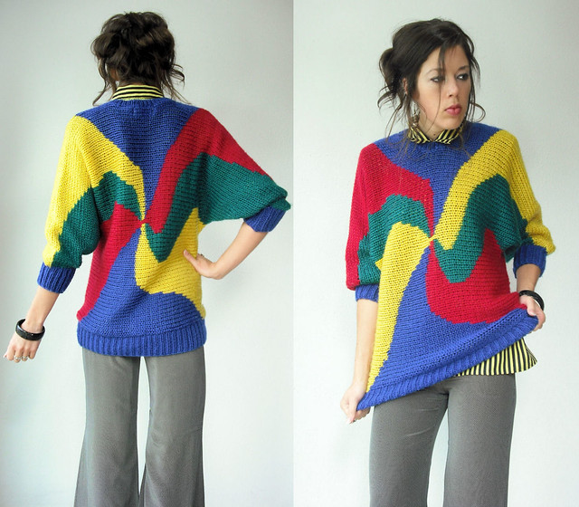 primary colors swirl sweater