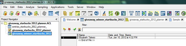 giveaway winner_startbucks 2012 planner