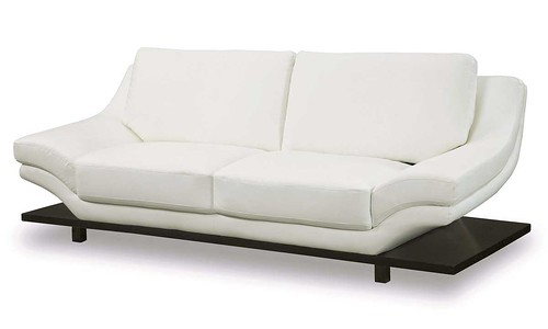 contemporary white leather sofa loveseat