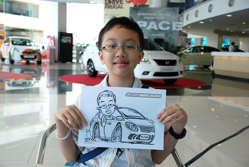 Caricature live sketching for Tan Chong Nissan Motor Almera Soft Launch - Day 3 - 5
