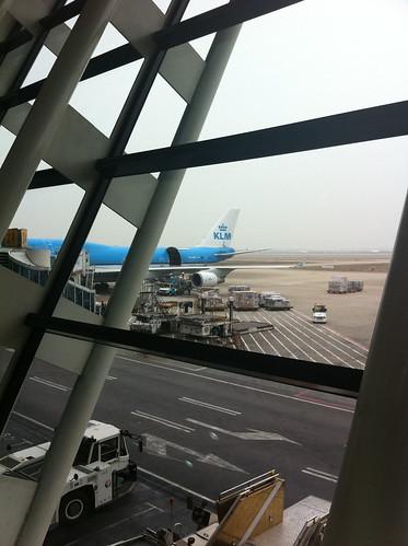 KL896 Shanghai-Amsterdam at Shanghai Pudong Airport