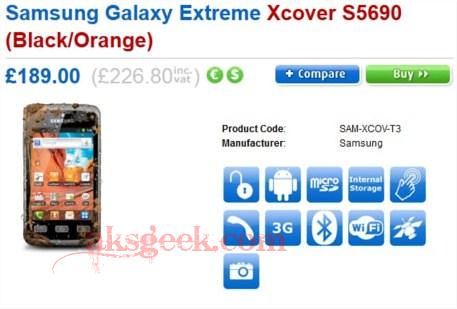 Samsung Galaxy Xtreme Xcover