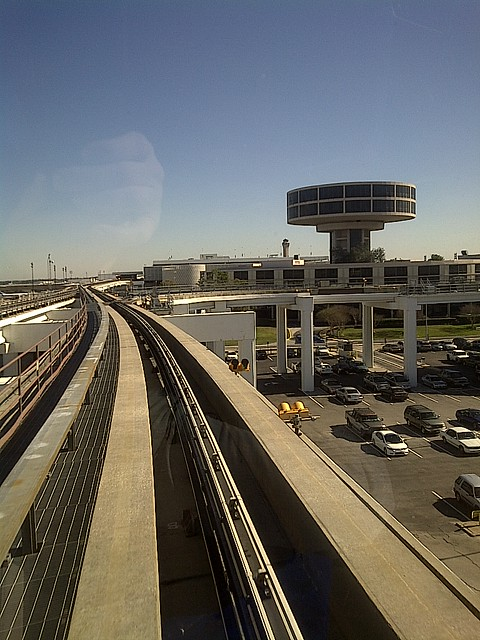 Monorail fun, George Bush International Airport