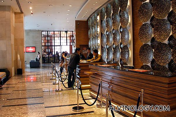 Marriot Hotel reception