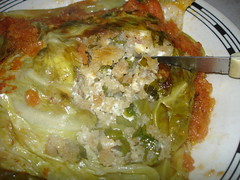 bread cheese stuffed cabbage