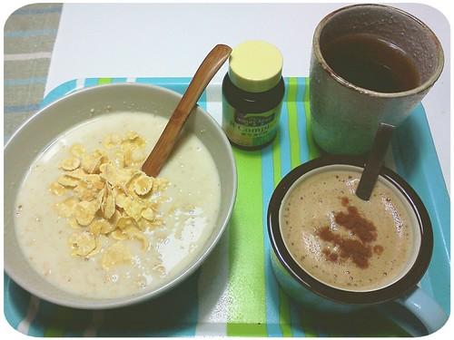早餐 ::: 燕麥片+熱咖啡 by 南南風_e l a i n e