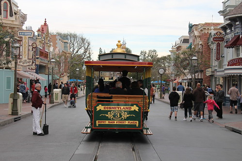 The Horse-Drawn Streetcar goes down Main Street USA