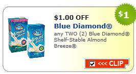 Blue Diamond Shelf-stable Almond Breeze Coupon