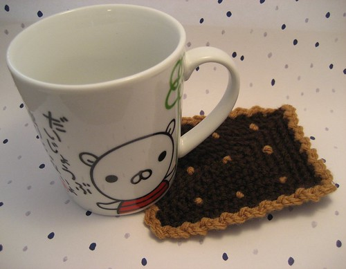 chocolate biscuit coaster
