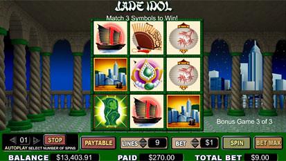 Jade Idol Slots Bonus Game