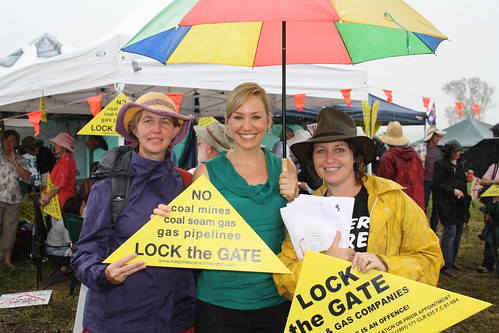 Larissa joins locals protesting CSG in Kerry, QLD