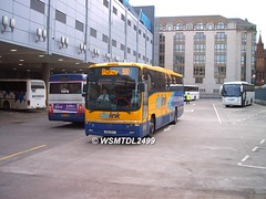 KSK 977 Volvo B12M Plaxton Pagagon. EDINBURGH Bus Station