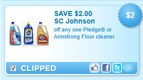Pledge Or Armstrong Floor Cleaner Coupon