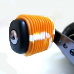 Metalic Orange White Fishing Reel Grips