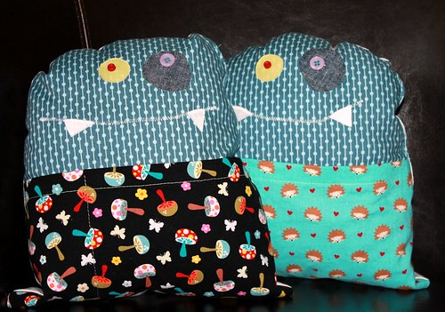 Monster Pillows with treasure pockets