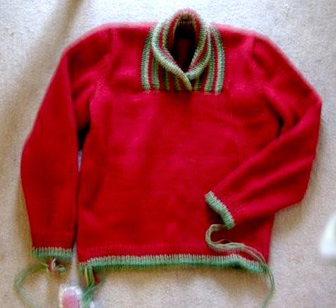 shawl collar pullover a4a-4