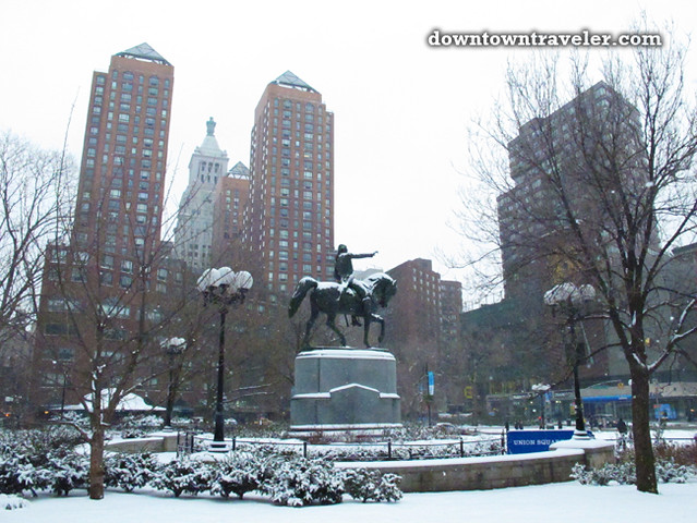 NYC Snowstorm January 2012 Union Square_7