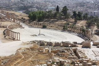 Image of Roman Site. plaza square jordan antioch jerash 2010 cardo decapolis gerasa cardomaximus ovalplaza antiochonthegoldenriver مدينةجرش ulrichjasperseetzen