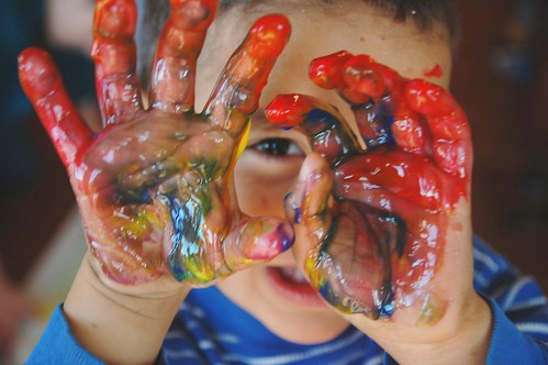 Sensory Play Ideas: Frozen Finger Paints