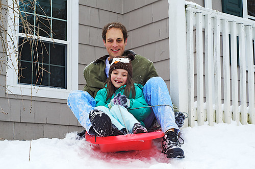 Sledding with Daddy.