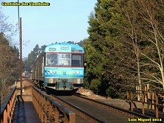 UDD n.º 0467 de passagem pela ponte ferroviária sobre o rio Neiva - Linha do Minho