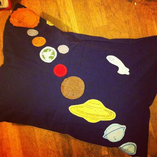Wild Olive Solar System cushion